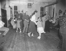 Dancing at the Schoool House 1955