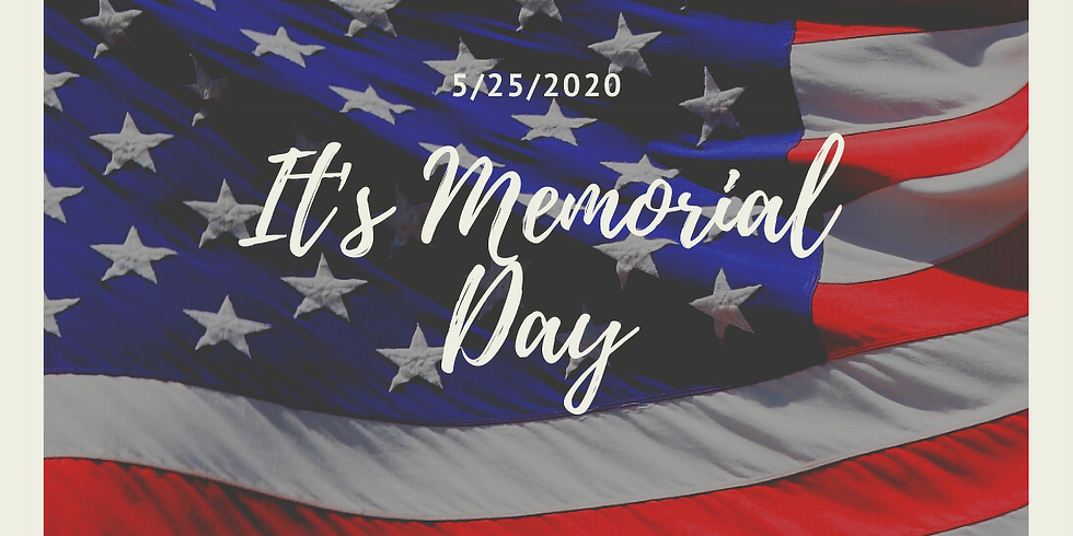 Memorial Day-No Classes