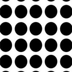 Black & White Dot Silk