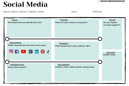 Social Media Canvas