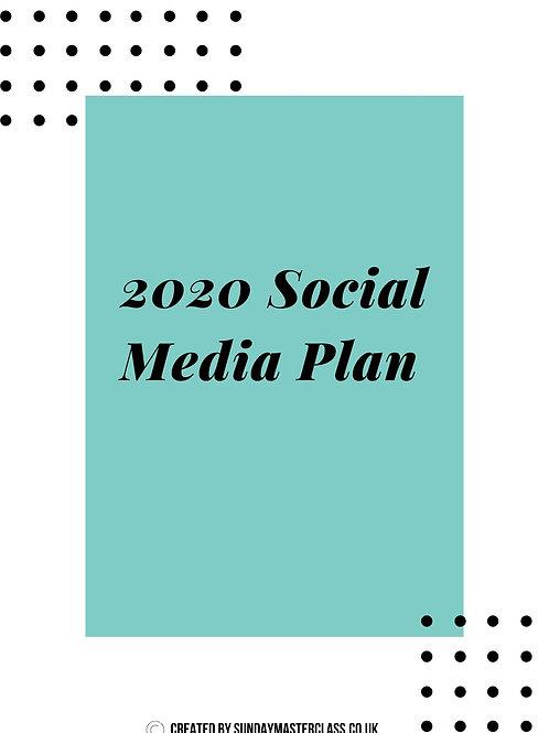 2020 Social Media Plan