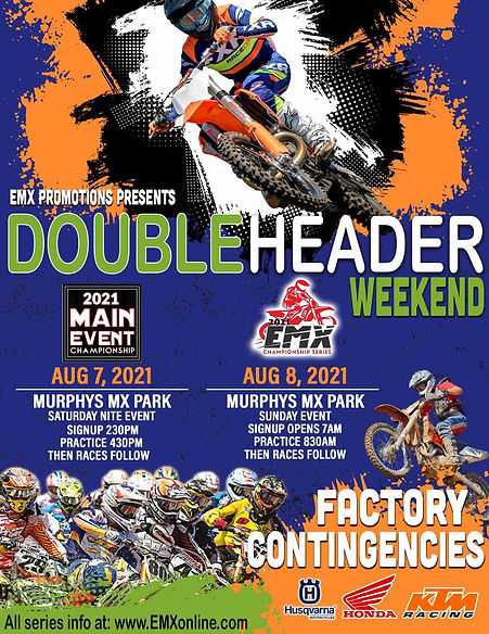 August 7th and 8th Double Header AMA Main Event and EMX Championship