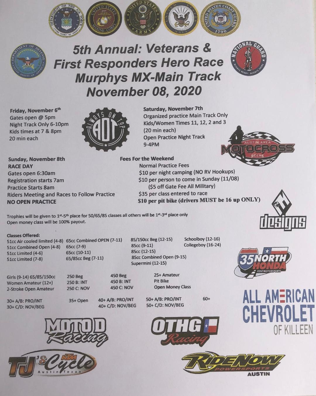 5th Annual Veterans and First Responders