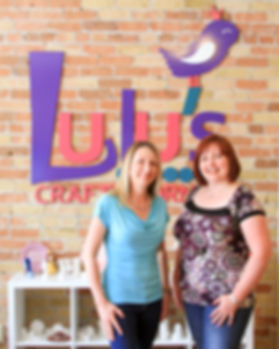 Owners of Lulu's Crafty Corner, Birdie and Kathy