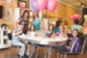 Birthday party at Lulu's Crafty Corner. All inclusive parties complete with balloons, craft to paint, cookies and clean up