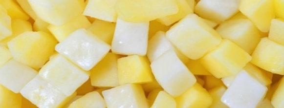 Заморожена картопля (кубик)