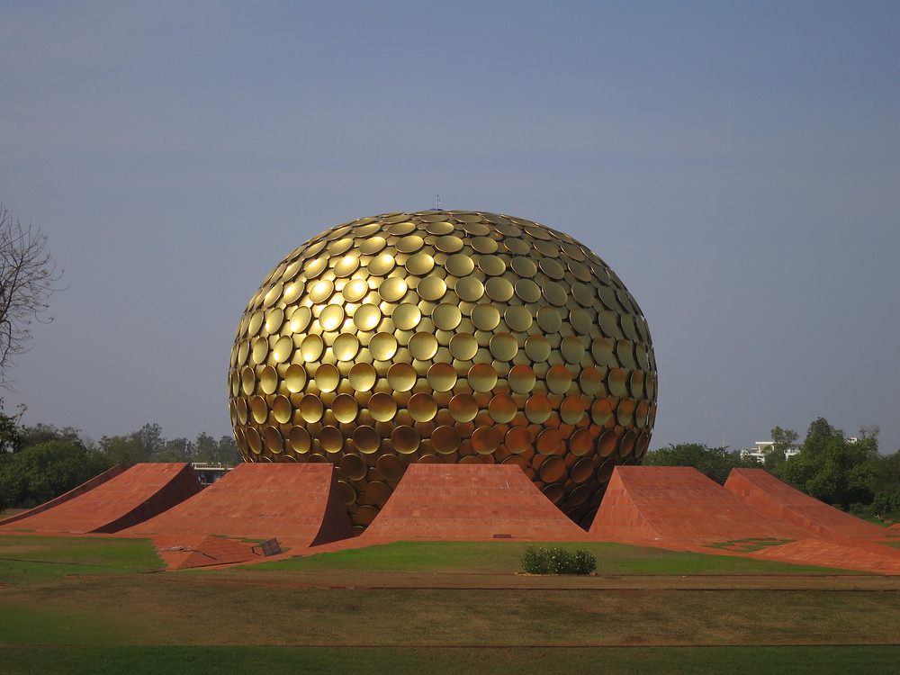 Matrimandir in Auroville (copyright D. Kramer)