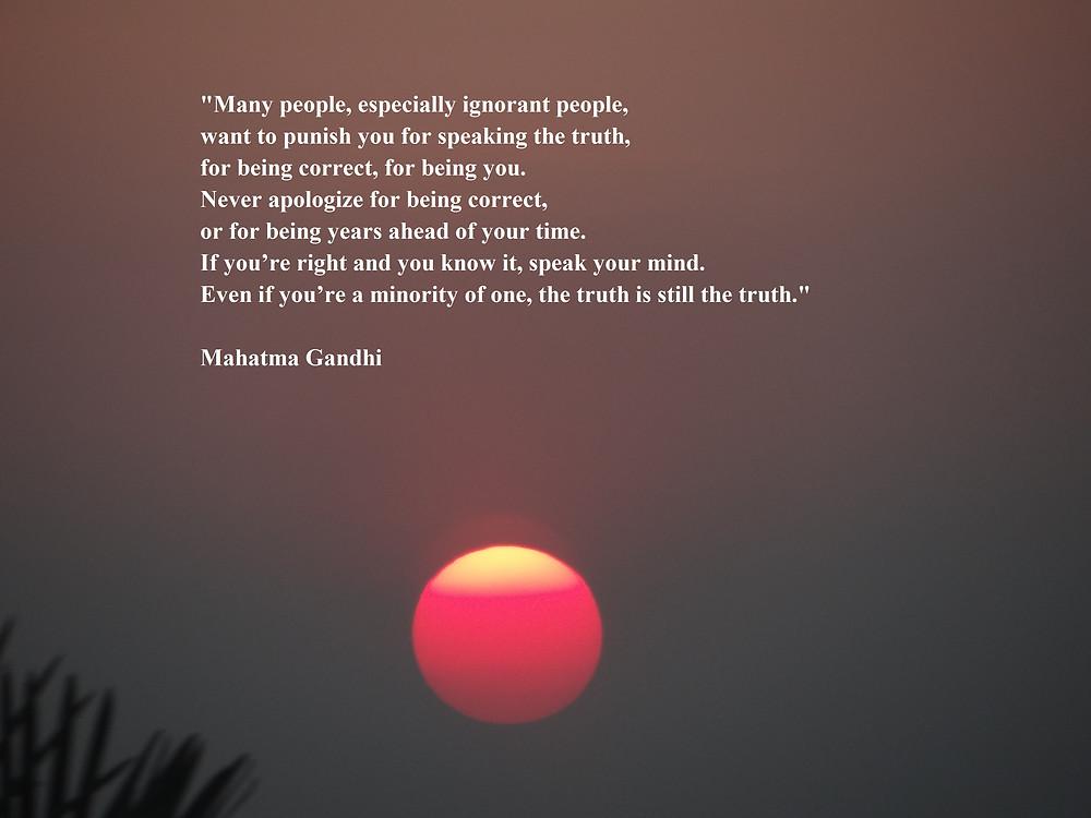 Zitat von Mahatma Gandi