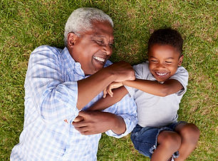 Grandpa and Grandchild Having Fun