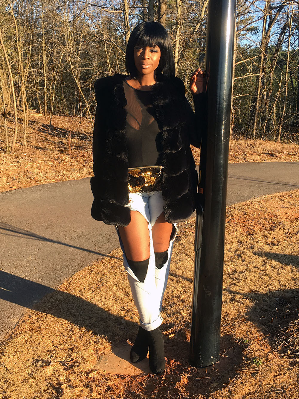 Black Fur Vest - Click to Shop