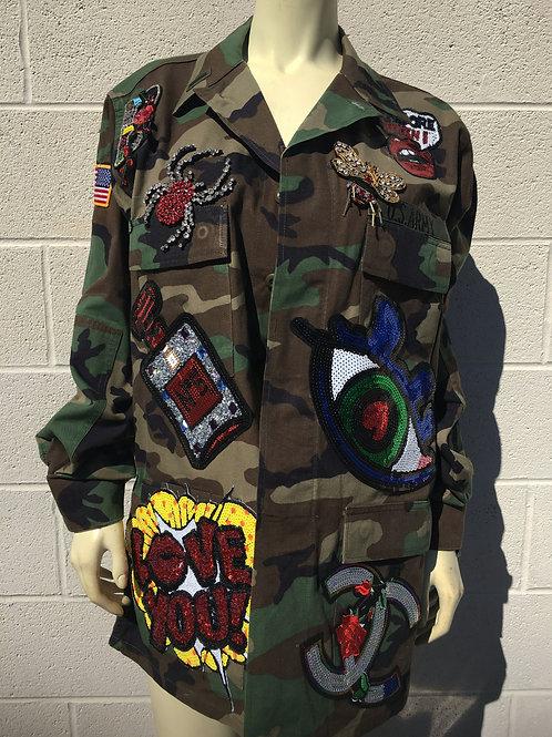 Large Patch Custom Camo Patch Jacket