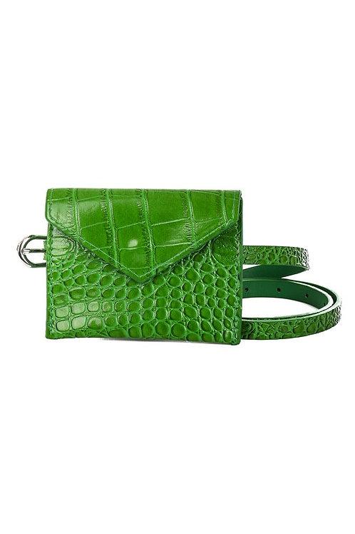 Green Crocodile Belt Bag
