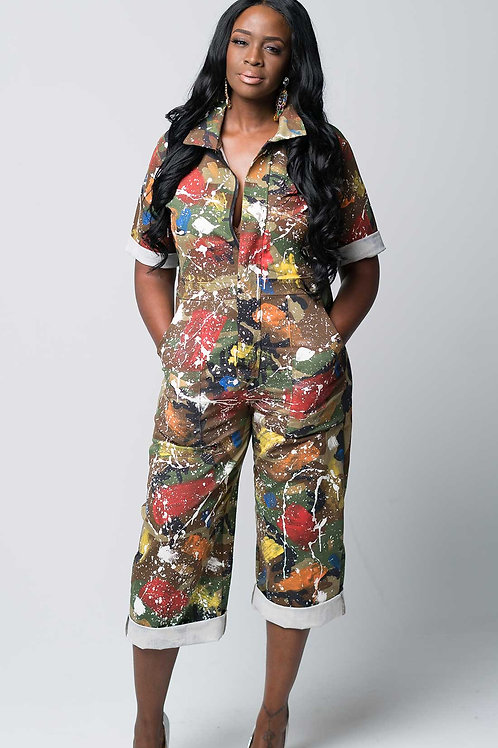 "Custom Camo ""Splatter"" Jumpsuit"