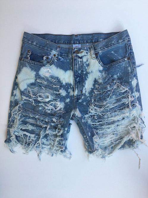 Distressed Boyfriend Jeans - Bermudas