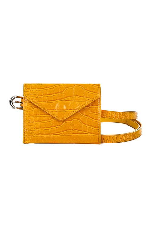 Mustard Crocodile Belt Bag