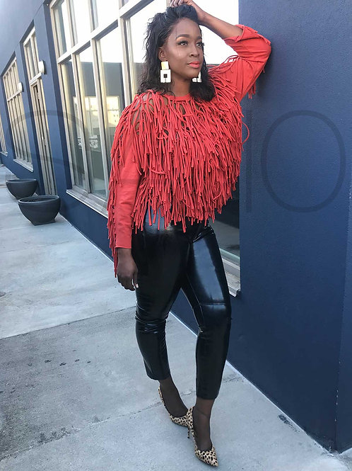 Winter Fringed Top