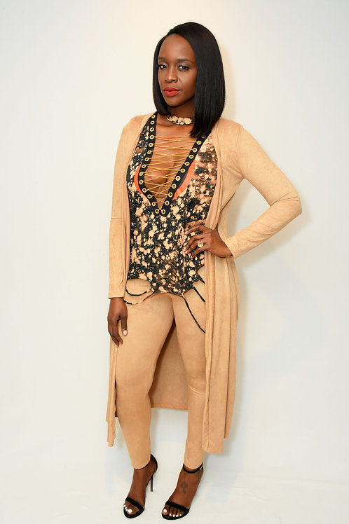 Suede Co-ord Set - Tan