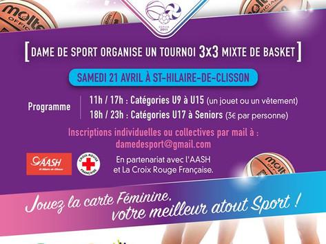 DDS organise un tournoi de 3x3 mixte de Basket !