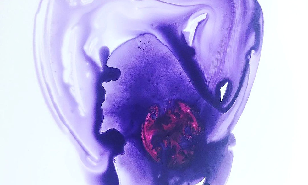 Heart Series: Violet Bruise Magenta Embryo