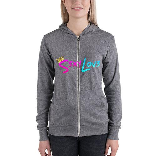 S3xyLov3 Unisex zip hoodie