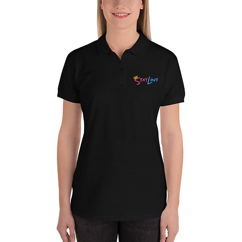 S3xyLov3 Embroidered Women's Polo Shirt