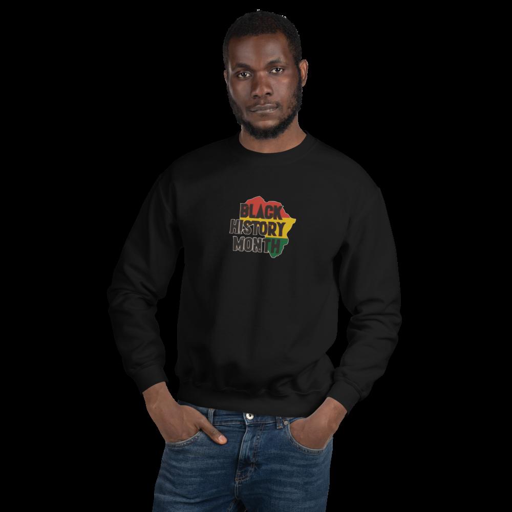 unisex-crew-neck-sweatshirt-black-front-