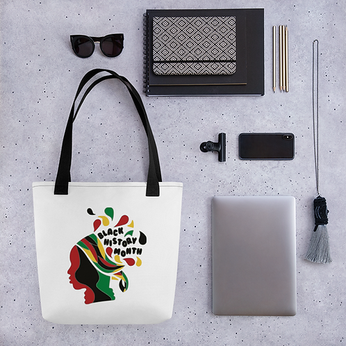 Queen Black History Month Tote bag
