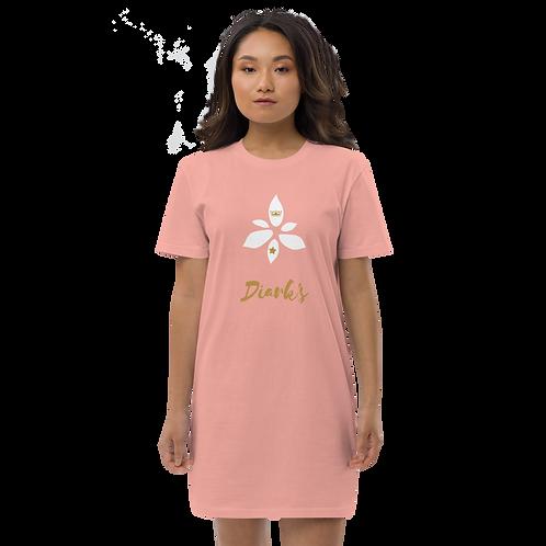 Diark's Flower Organic Cotton T-shirt Dress