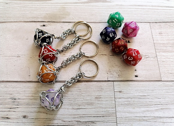 Removable D20 Keychain