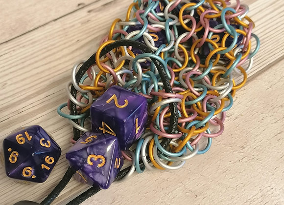 open weave dice bag -Percy