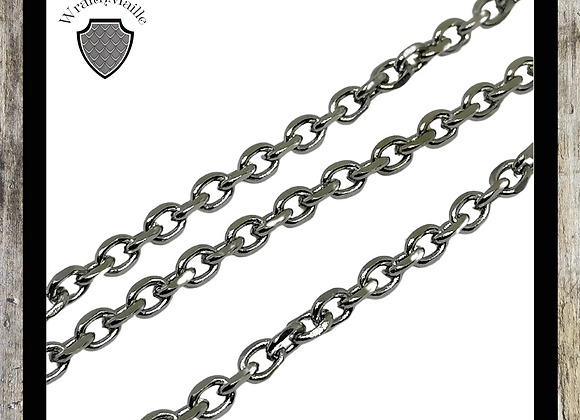 Stainless steel cable chain (2.6x2x0.5mm)