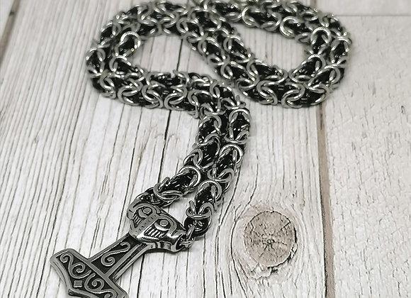 Mjolnir and byzantine necklace