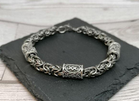 Viking rune byzantine bracelet