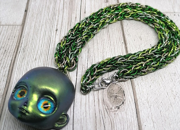 CCC chain and alien pendant