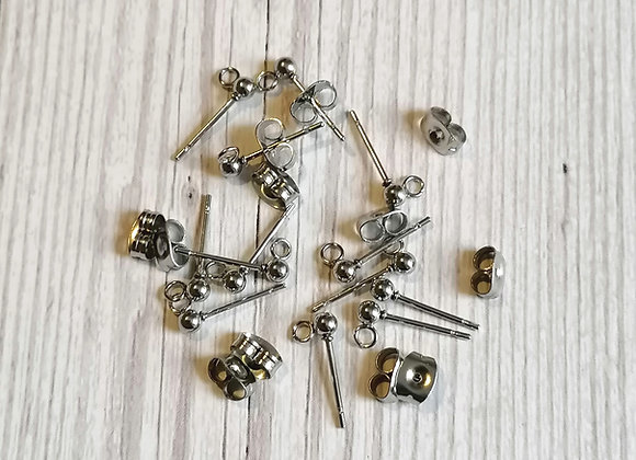 Stainless Steel Earring Posts