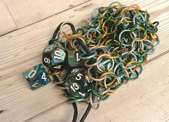 Small open weave dice bag -Keyleth