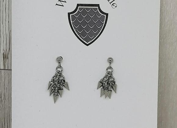 Tiny spike earrings