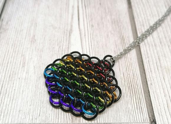 Rainbow Dragonscale pendant