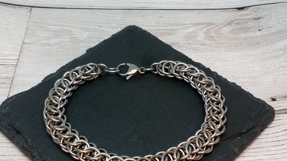Flat Full Persian Chainmaille Bracelet