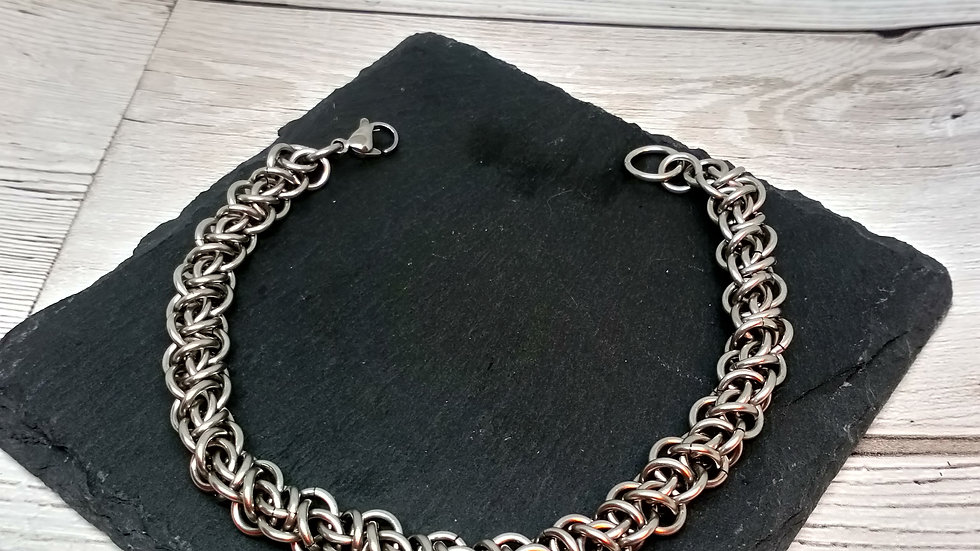 Prejudiced Rhino Chainmaille Bracelet