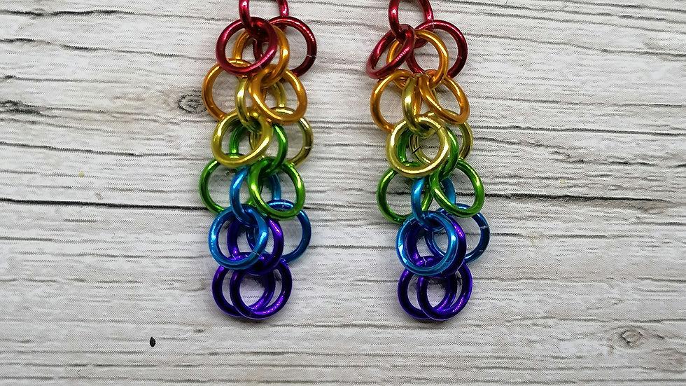 Shaggy loop earrings