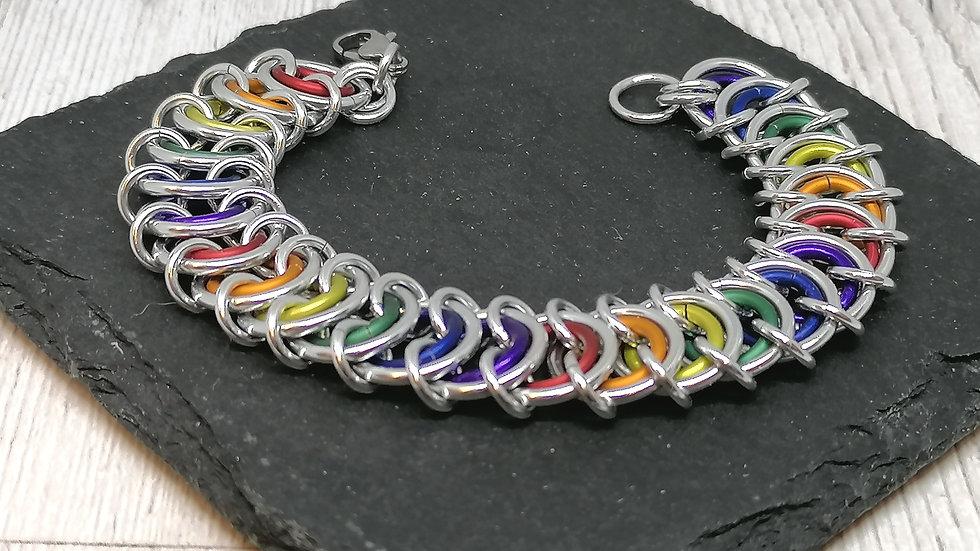 Rainbow unisex bracelet