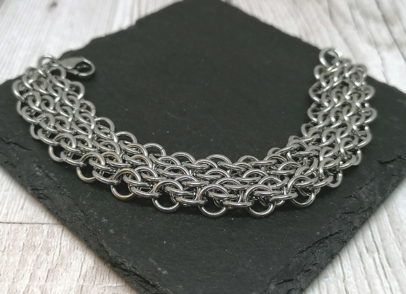 Unisex SOH staggered Chainmaille Bracelet