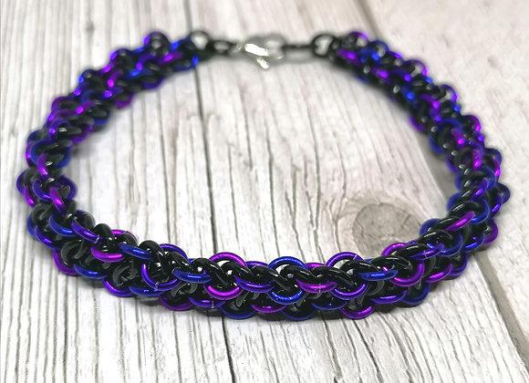 Oil slick Vipera Berus unisex bracelet