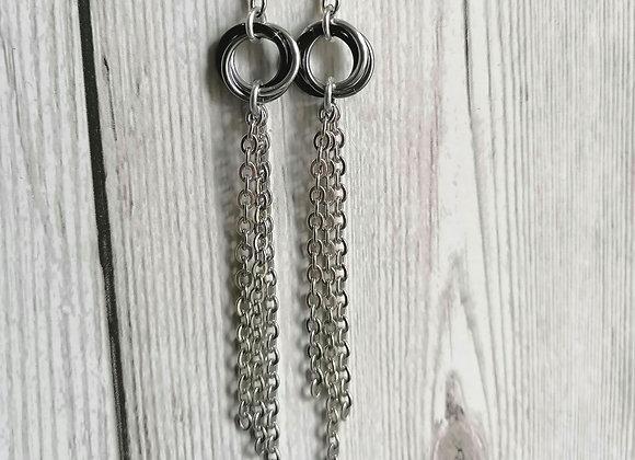 Mobius chain earrings