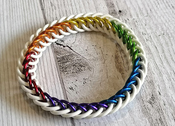 Stretchy Rainbow Pride bracelet