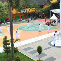 SMP Al-Amjad Ikuti Lomba Paskibra 'Semarak IV'