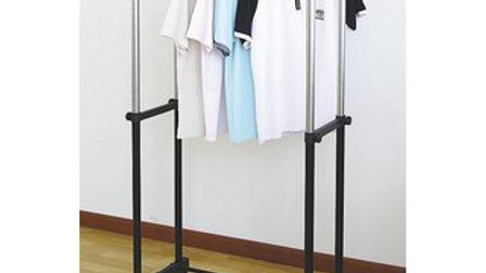 Double Pole Clothes Hanger Stand