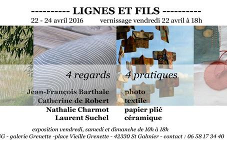 """Exposition """"Lignes et fils"""""""