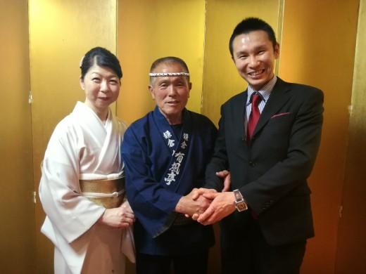 鎌倉人力車「有風亭」創業35周年祝賀会にて